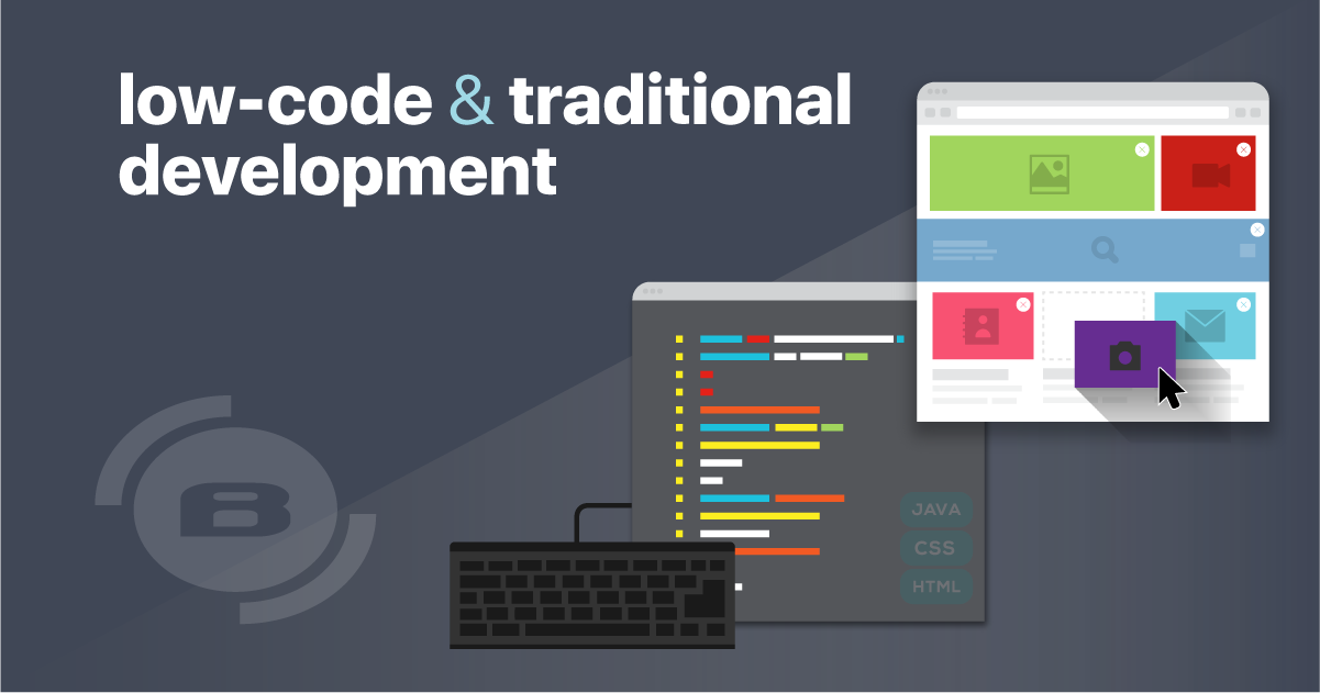 Learn the differences between low-code and traditional development